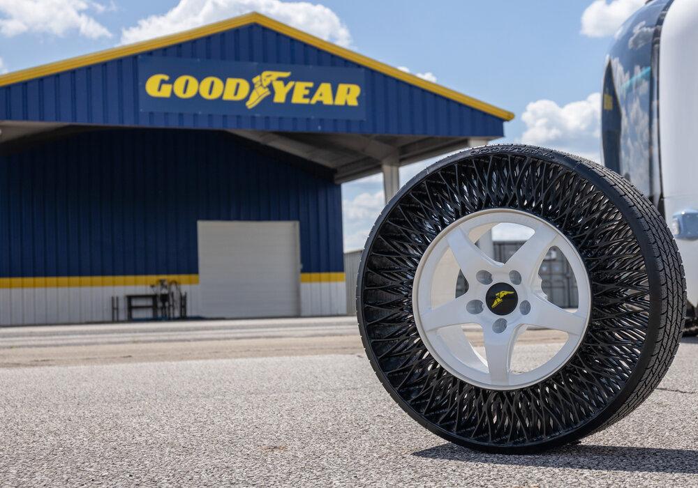 Goodyear ontwikkelt luchtloze banden