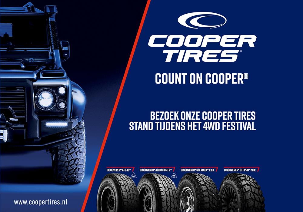 Goede match met Cooper Tires als hoofdsponsor van het 4WD Festival 2021
